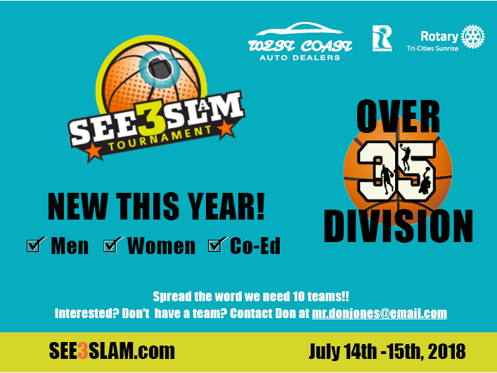 See3Slam Over 35 Bracket Announcement
