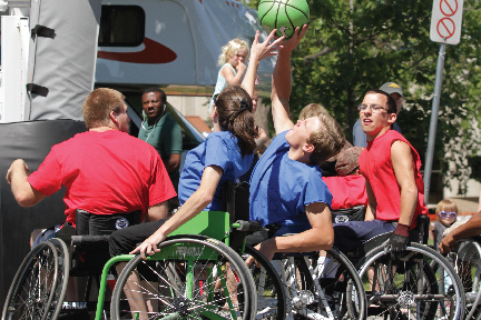 Permobil Wheelchair Ball Exhibition